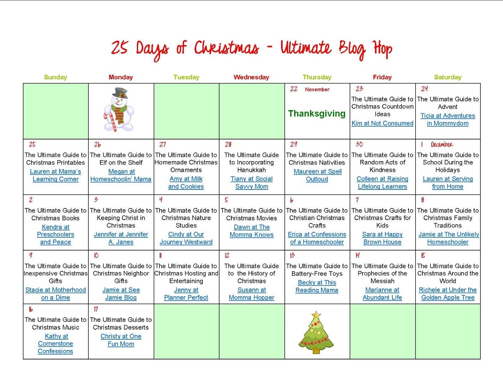 25 days of christmas blog hop